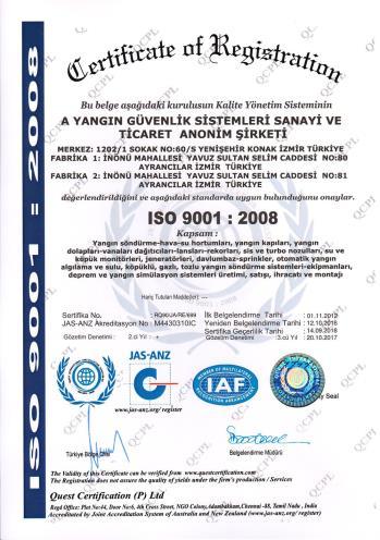 ISO 9001-2008 KALİTE YÖNETİM SİSTEMİ