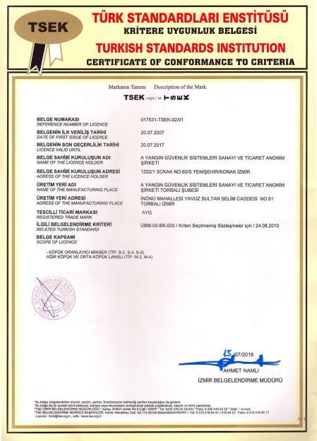 TSEK ÜBM-00-BK-000 Köpük Oranlayıcı Mikser