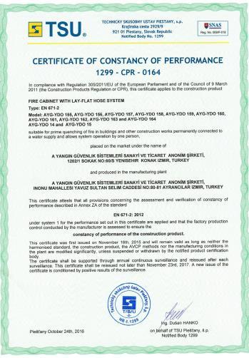 CE EN 671-2_2012 Sabit Yangın Söndürme Sistemleri