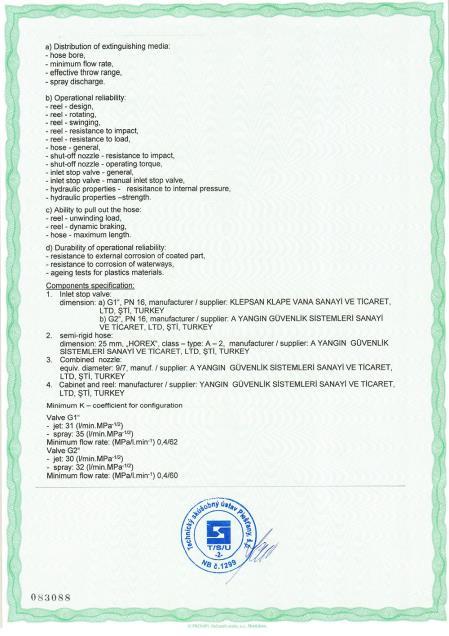 CE EN 671-1_2012 Sabit Yangın Söndürme Sistemleri 2